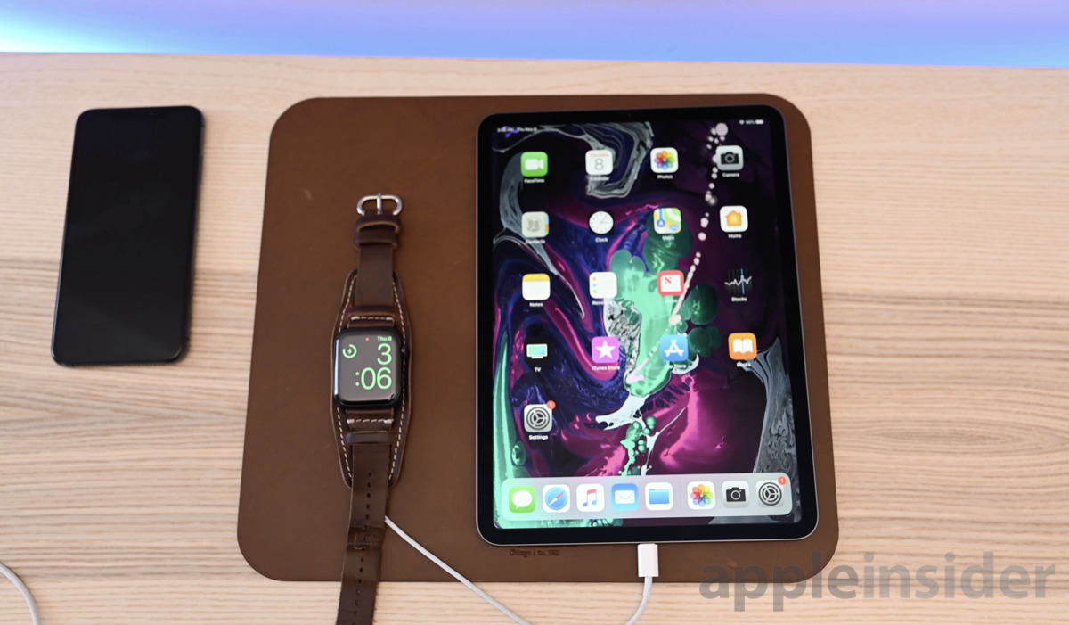 2018 iPad Pro charging Apple Watch