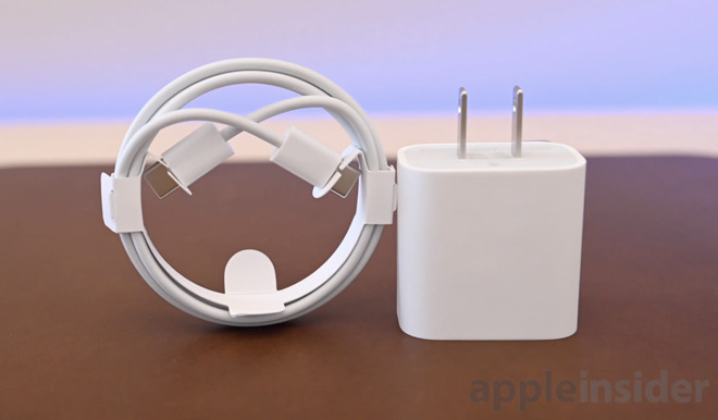 2018 iPad Pro USB-C cable and power adapter