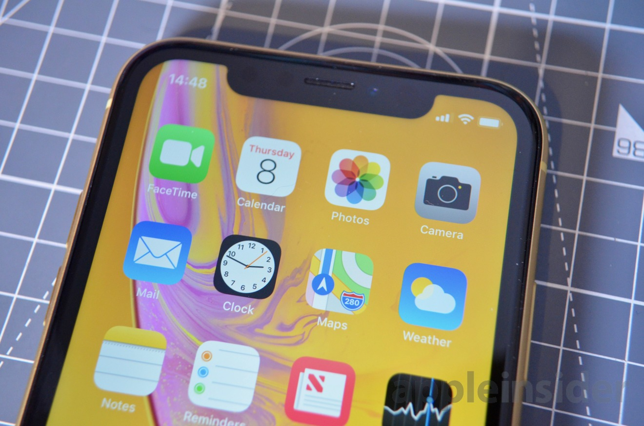 The iPhone XR features the same notch as the iPhone XS, but while it's an LCD screen, it's still more than good enough for most users