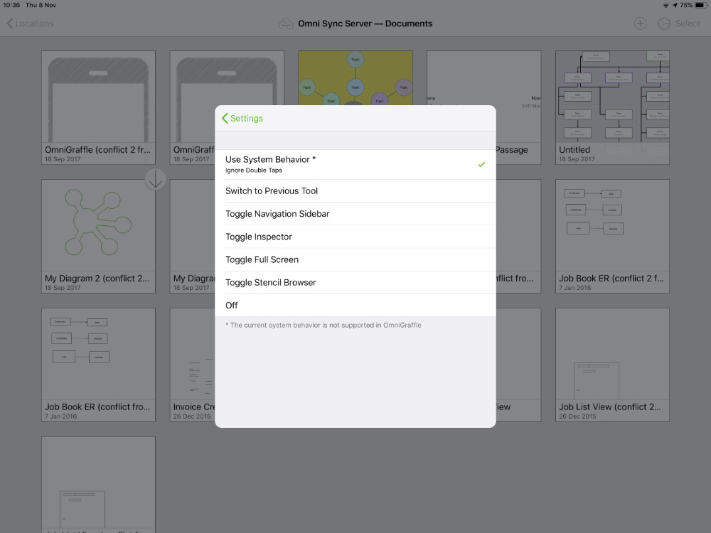 OmniGraffle's comprehensive options for the new Apple Pencil