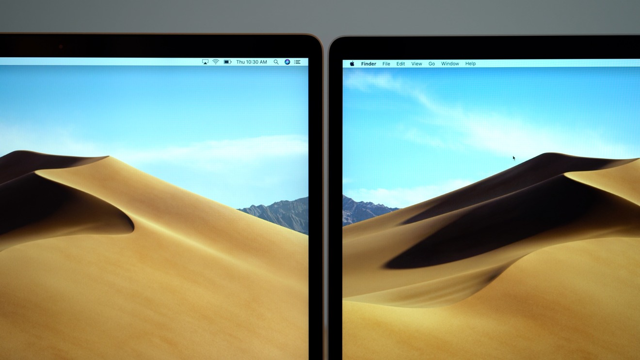 2018 MacBook Air vs 2017 MacBook Pro Color Reproduction Comparison
