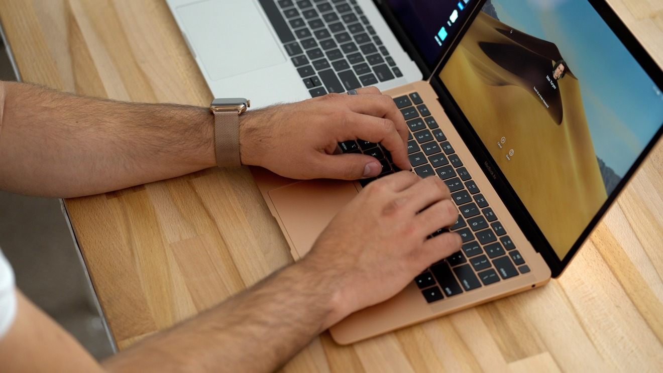 MacBook Air is friendlier to the wrist when typing versus the MacBook Pro