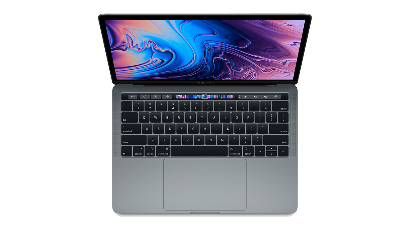 Apple 13 inch MacBook Pro with TouchBar in Space Gray Late 2018