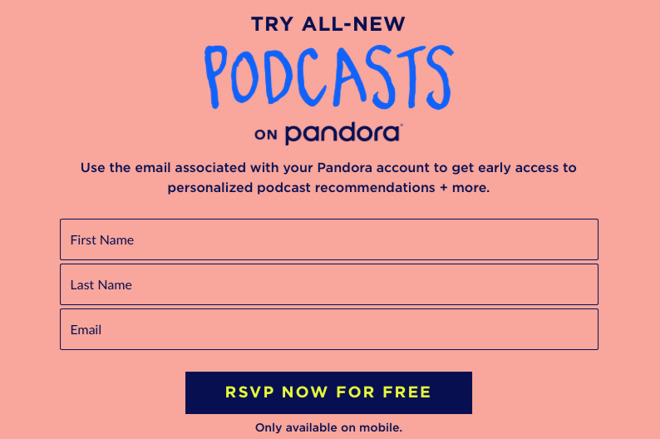 Pandora launches Podcast Genome Project to make personalized