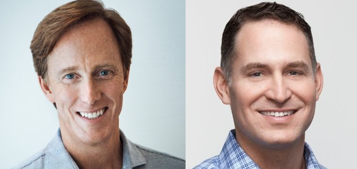 Pandora CEO Roger Lynch (left) and Chief Product Officer Chris Phillips (right)