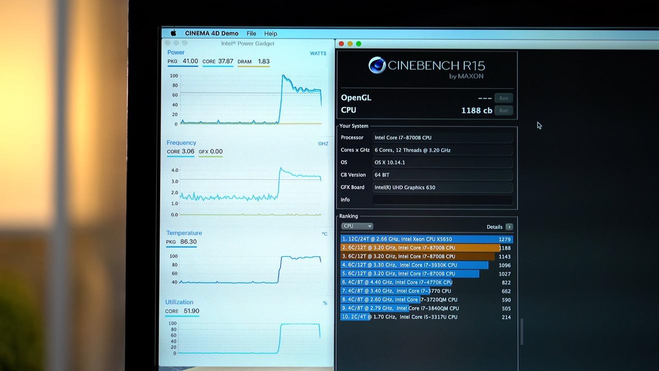 First Cinebench R15 Run on 2018 Mac mini