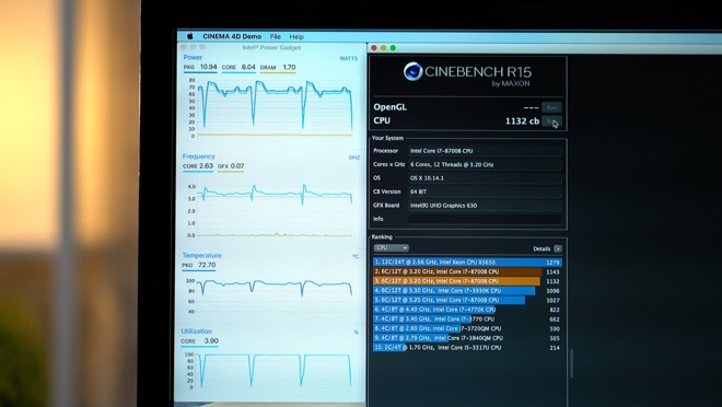 Testing thermal throttling and performance in the 2018 i7 Mac mini