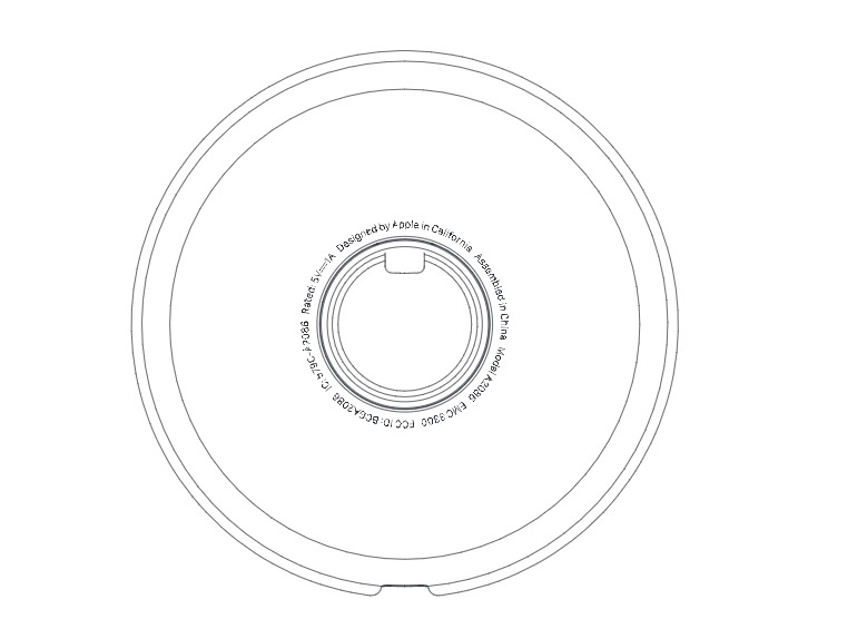 A diagram from an FCC filing showing the Magnetic Charging Dock's regulatory labels