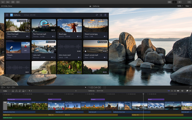 Final Cut Pro X adds third-party extensions alongside video