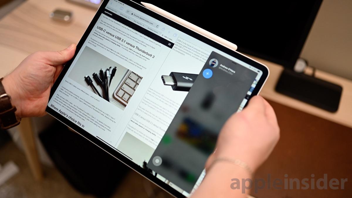 2018 12.9-inch iPad Pro Multitasking