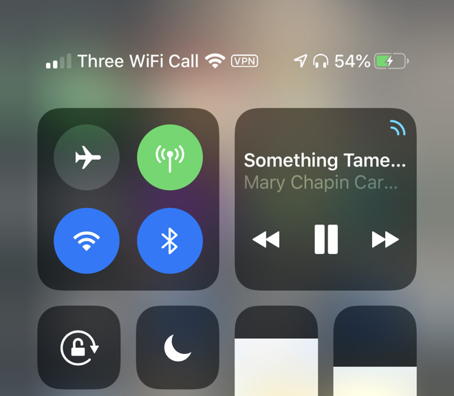 Status bar information has moved to Control Center