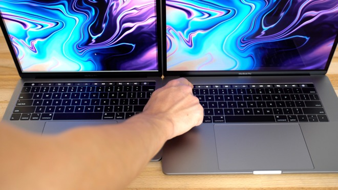 The Touch Bars of the MacBook Pro models