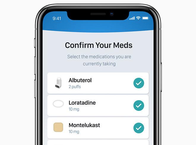 iOS health records