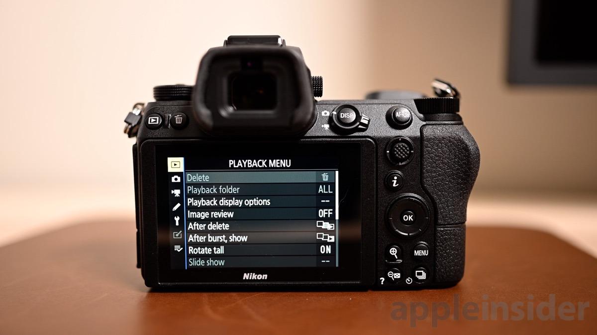 Nikon Z6 Menu System