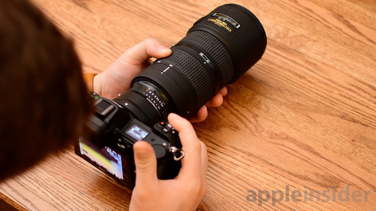 Nikon Z6 FTZ adapter