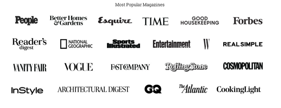 A selection of magazines included in Texture