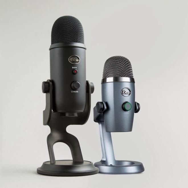 Blue Yeti (left) and Nano