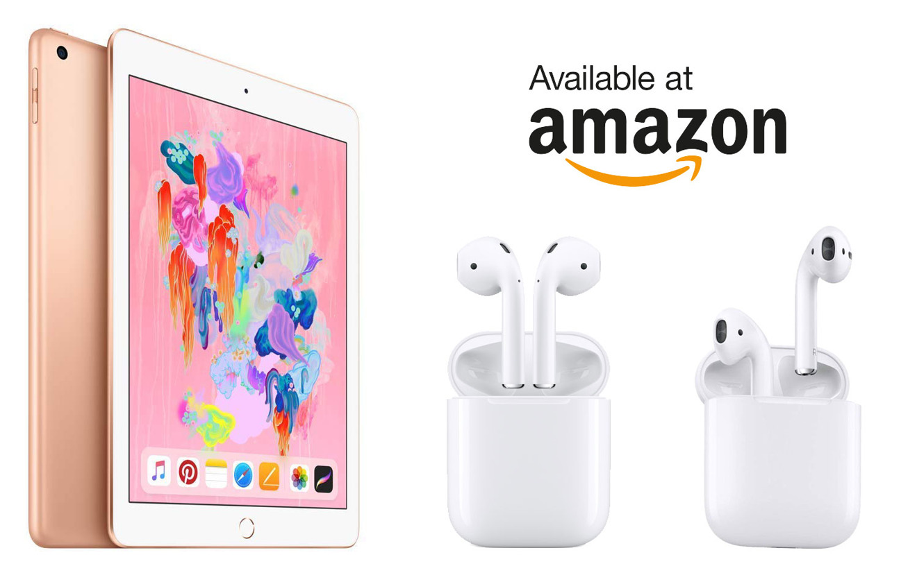 Amazon has Apple's 2018 iPads for $249, AirPods for $154 and 2018