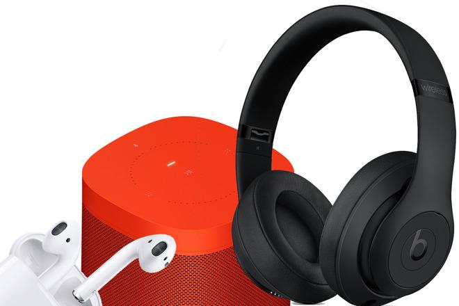 Cyber Monday orange smart speaker and headphones deals