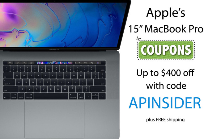 Apple 2018 15 inch MacBook Pro coupon code