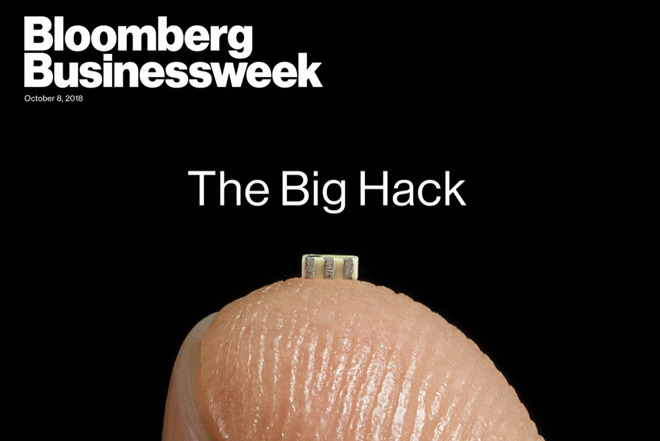 Bloomberg Businessweek's image of the alleged spy chip