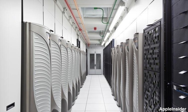 A section from one of Apple's datacenters