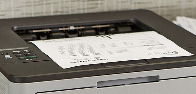 Printing text pages on a Brother printer