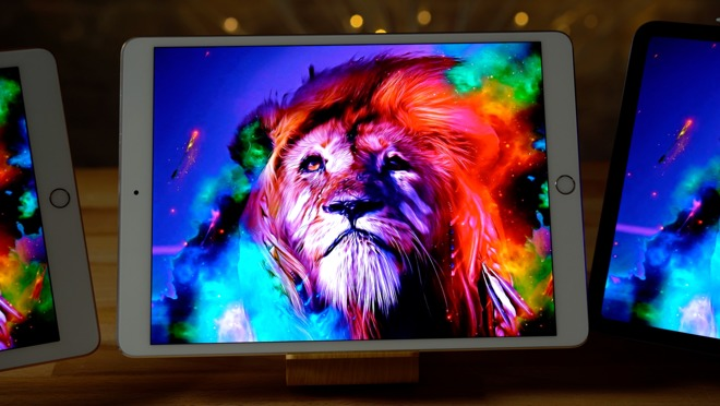 The vivid colors of the iPad Pro display