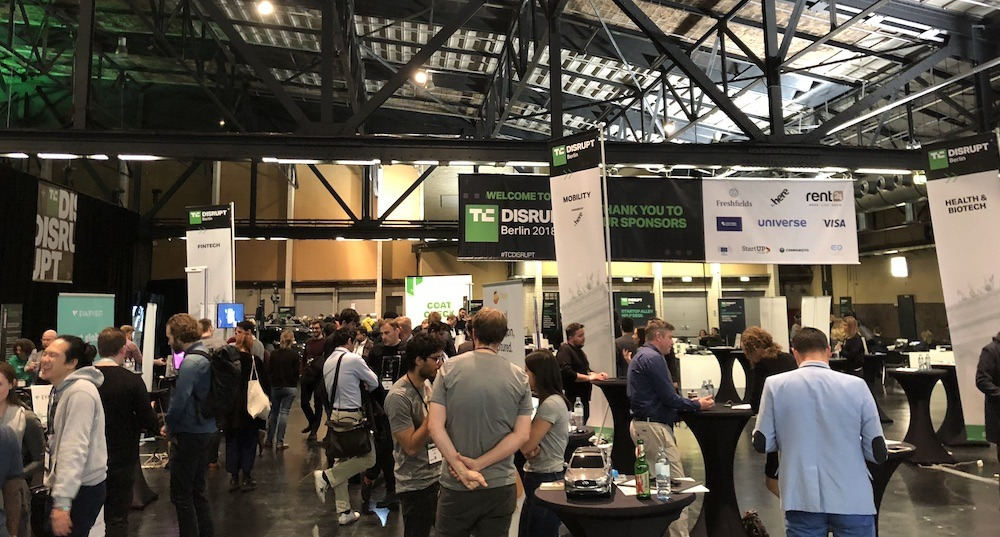 Exhibitors at Disrupt Berlin 2018
