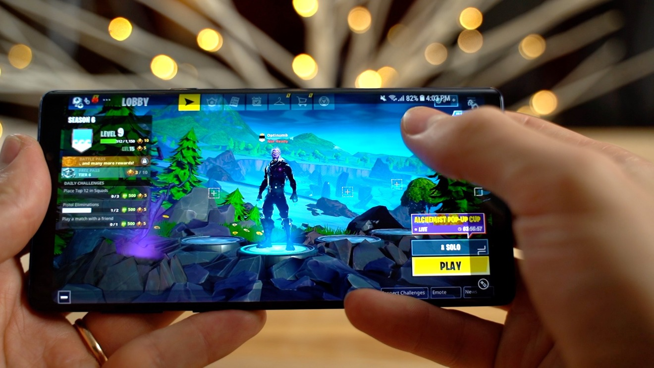 The Samsung Galaxy Note 9 after 45 minutes of Fortnite gameplay