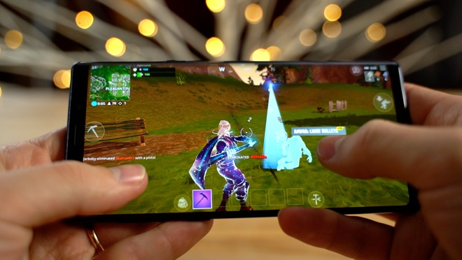 Fortnite on the Samsung Galaxy Note 9