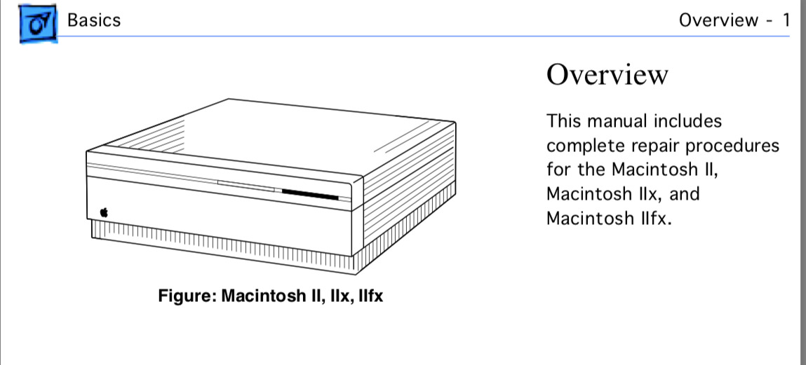 Detail from Mac IIfx manual
