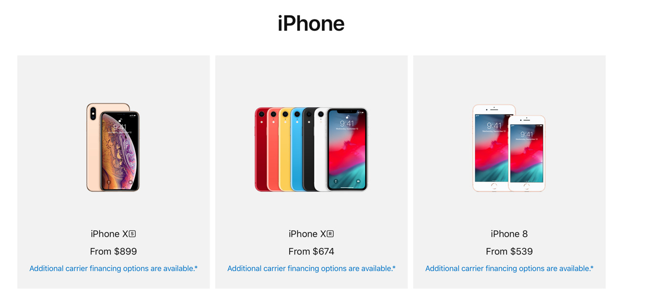 iPhones offered under the Veterans and Military Purchase Program