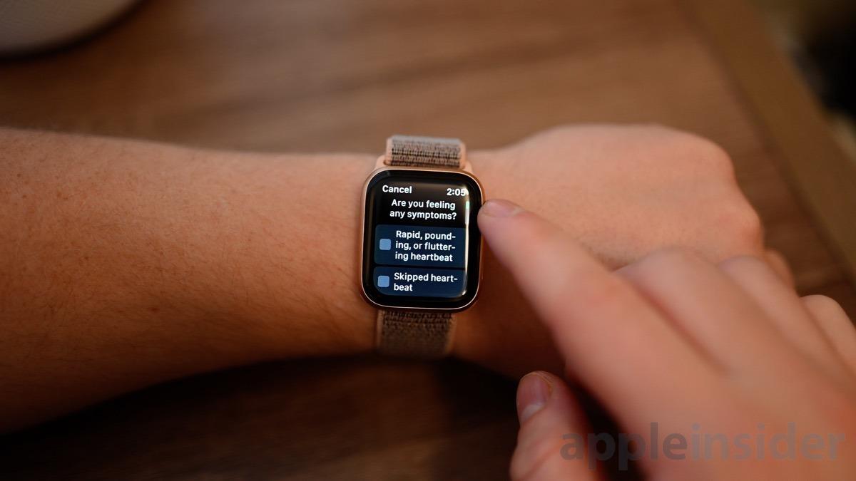Apple Watch ECG app adding additional symptoms