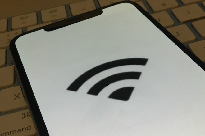 Wi-Fi icon on iPhone