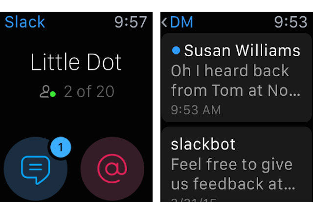 Slack's Apple Watch app