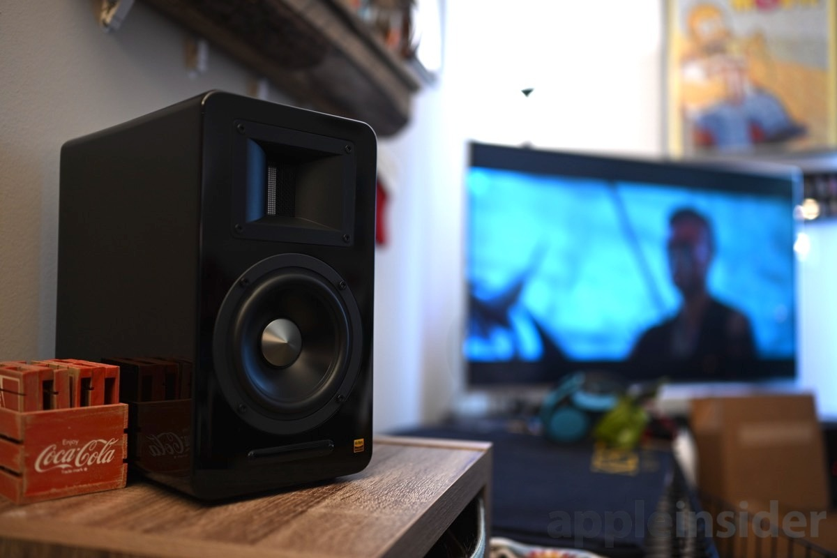 AirPulse A100 speaker playing from television
