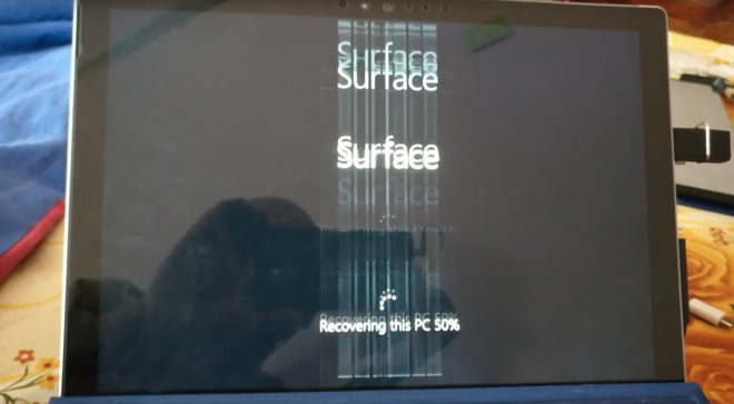 Screen flickering on Surface Pro 4
