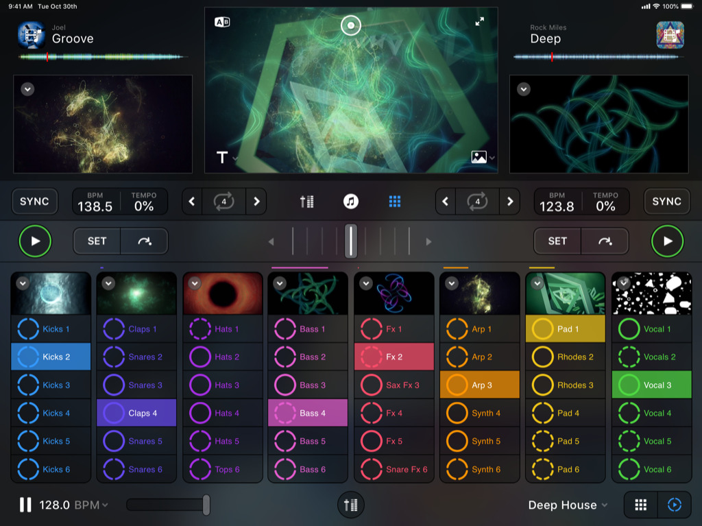 looper with visual mixer