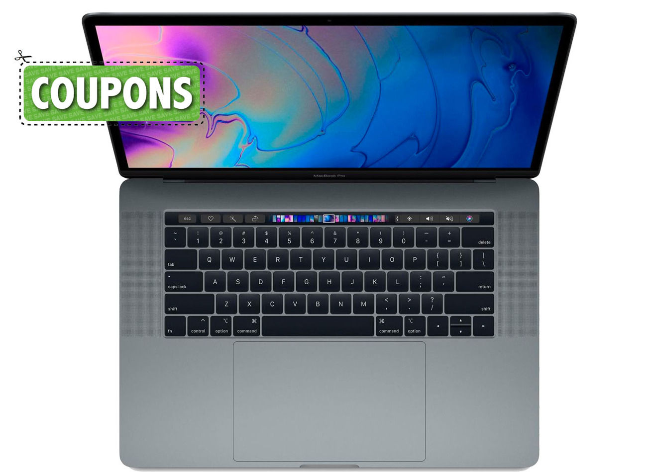 Apple 2018 MacBook Pro with coupon graphic