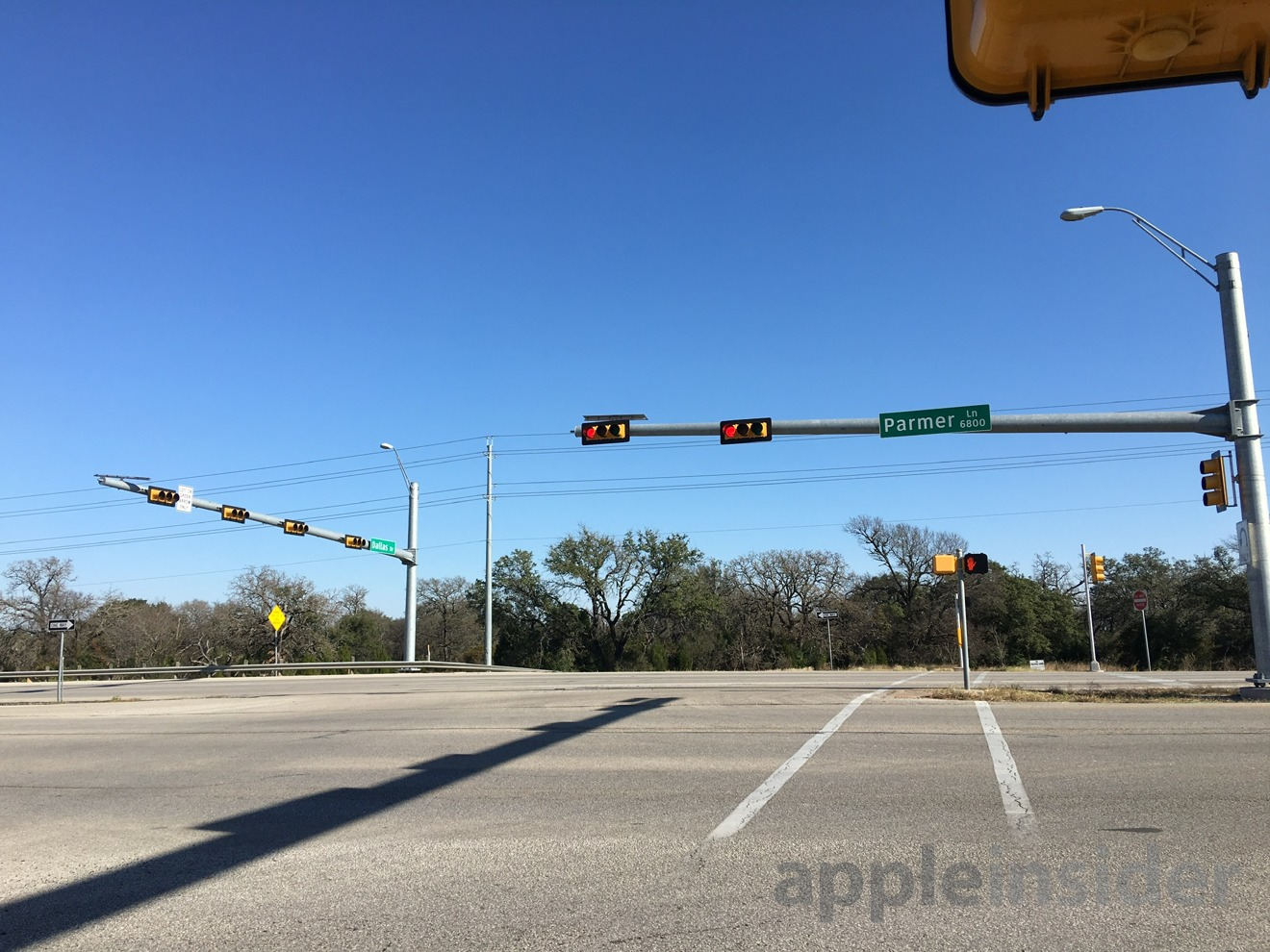 The Dallas/Parmer intersection. The main entrance will actually be slightly further east on Parmer.