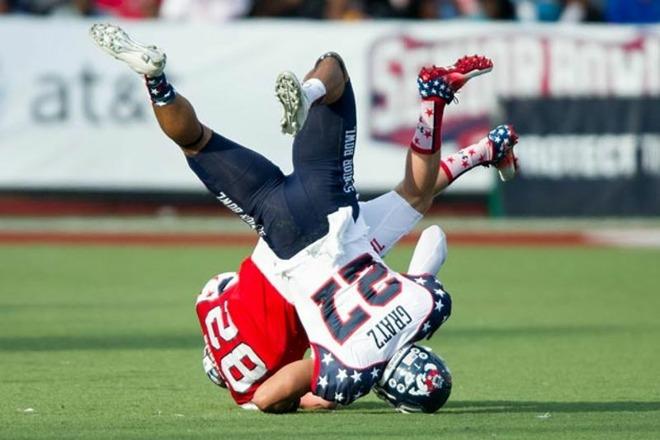 NCAA football injury
