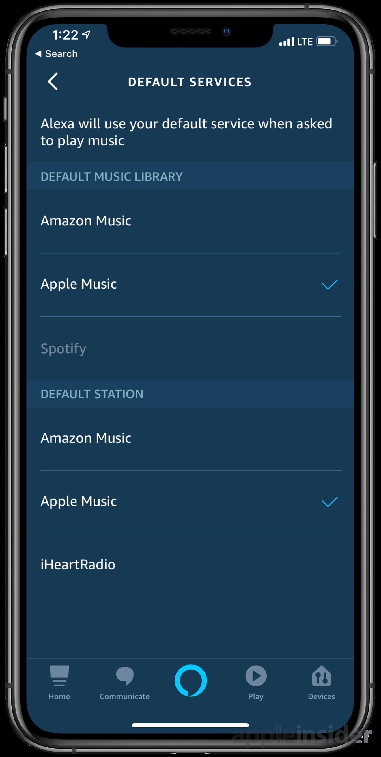 Apple Music default music sources