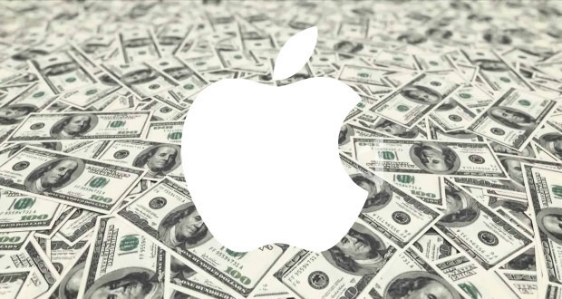 Apple logo on money