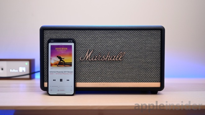 Marshall Stanmore II and iPhone XS Max
