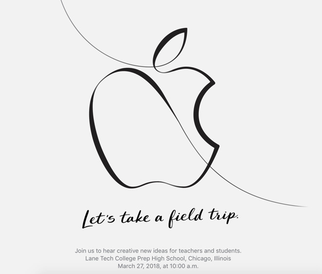 Detail from Apple's press invitation to its March education event