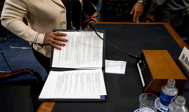 Mark Zuckerberg's notes (source AP Photo)