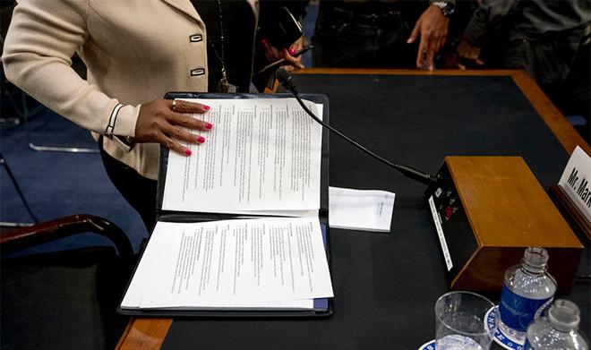 Mark Zuckerberg's notes (source AP Photo)