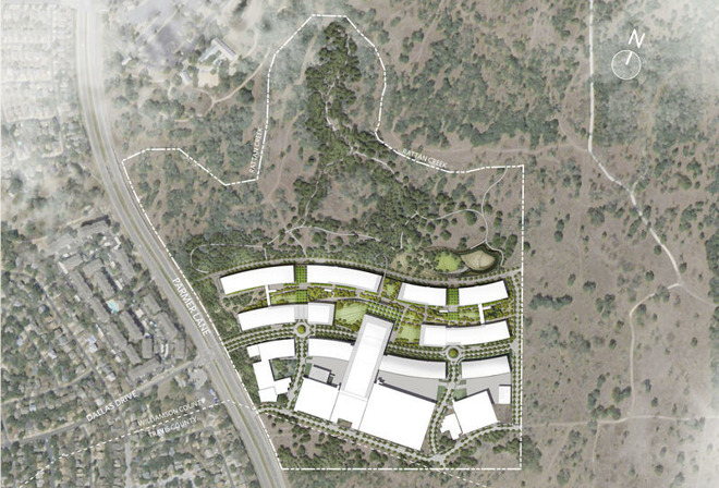 Austin campus site plan