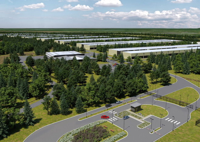 An Apple datacenter like the one that had been planned for Ireland